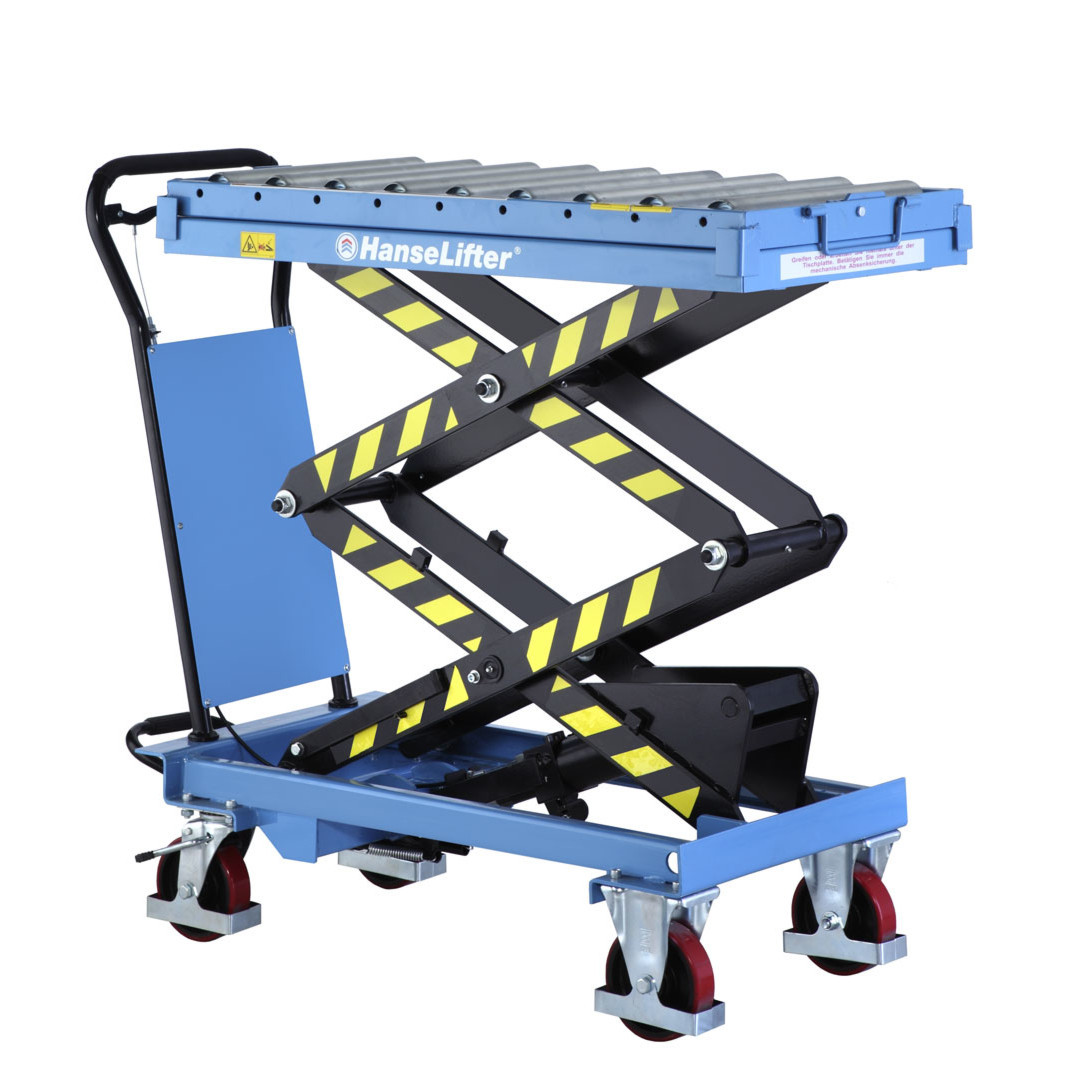 2 Ton Walk Behind Pallet Stacker Electric Forklift Price 1: Scissor Lift Table With Roller Track Lifting Up To 300kg