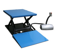 Static Electric Lift Table With Ramp lifting up to 2000kg - HTF-G