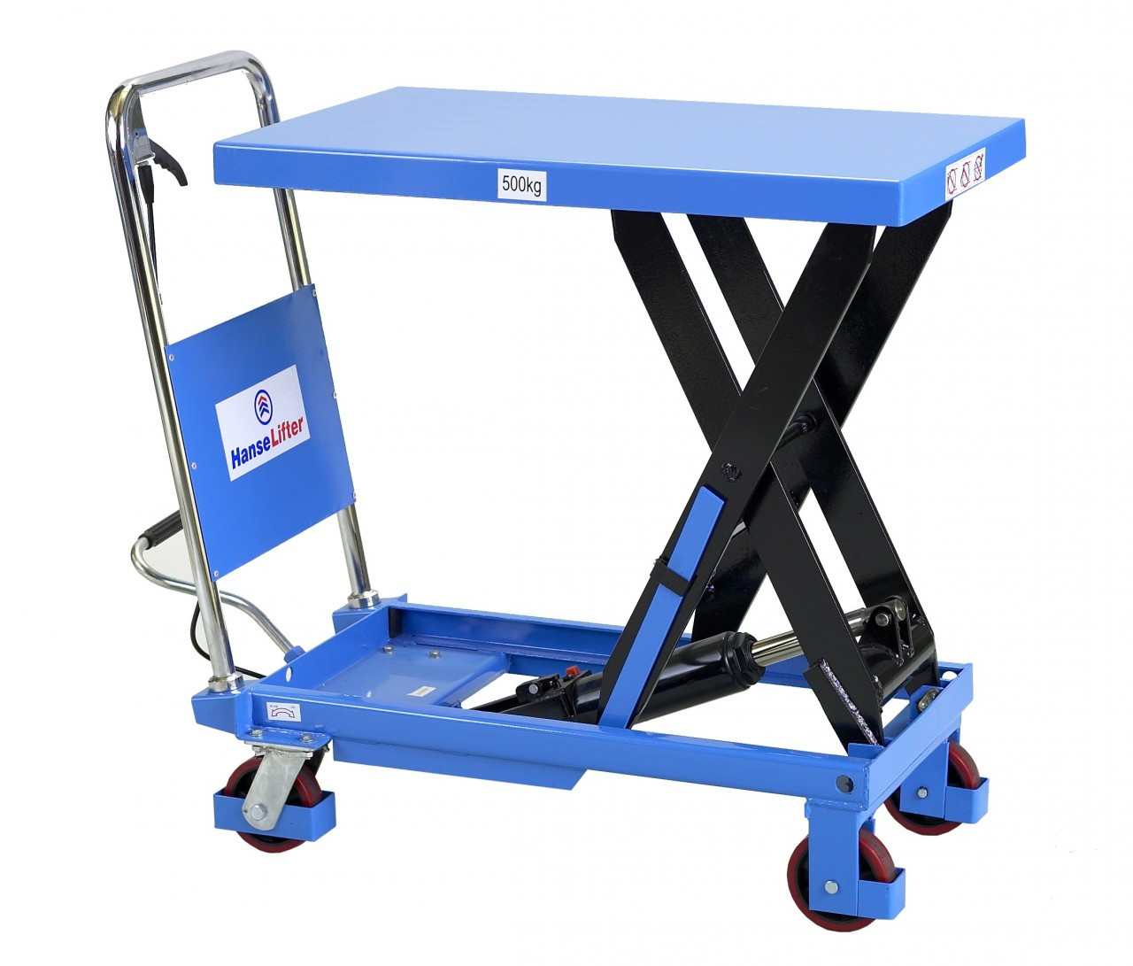 2 Ton Walk Behind Pallet Stacker Electric Forklift Price 1: Scissor Lift Table Lifting Up To 500kg
