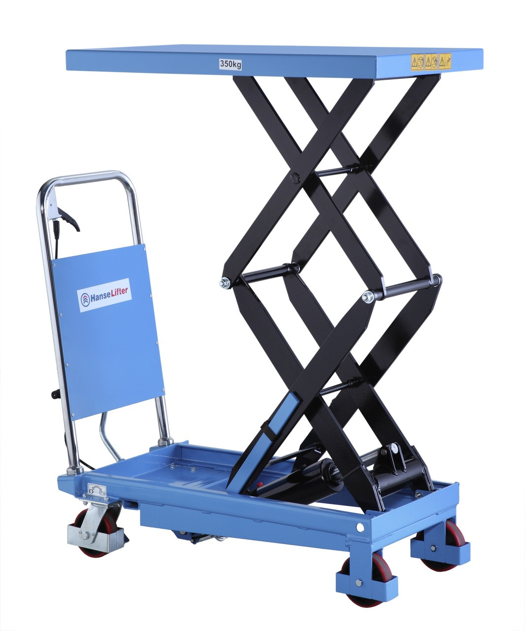 2 Ton Walk Behind Pallet Stacker Electric Forklift Price 1: Double Scissor Lift Table Lifting Up To 350kg