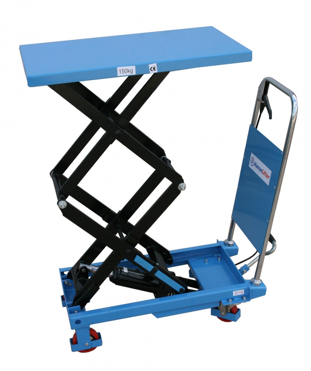 2 Ton Walk Behind Pallet Stacker Electric Forklift Price 1: Double Scissor Lift Table Lifting Up To 150kg