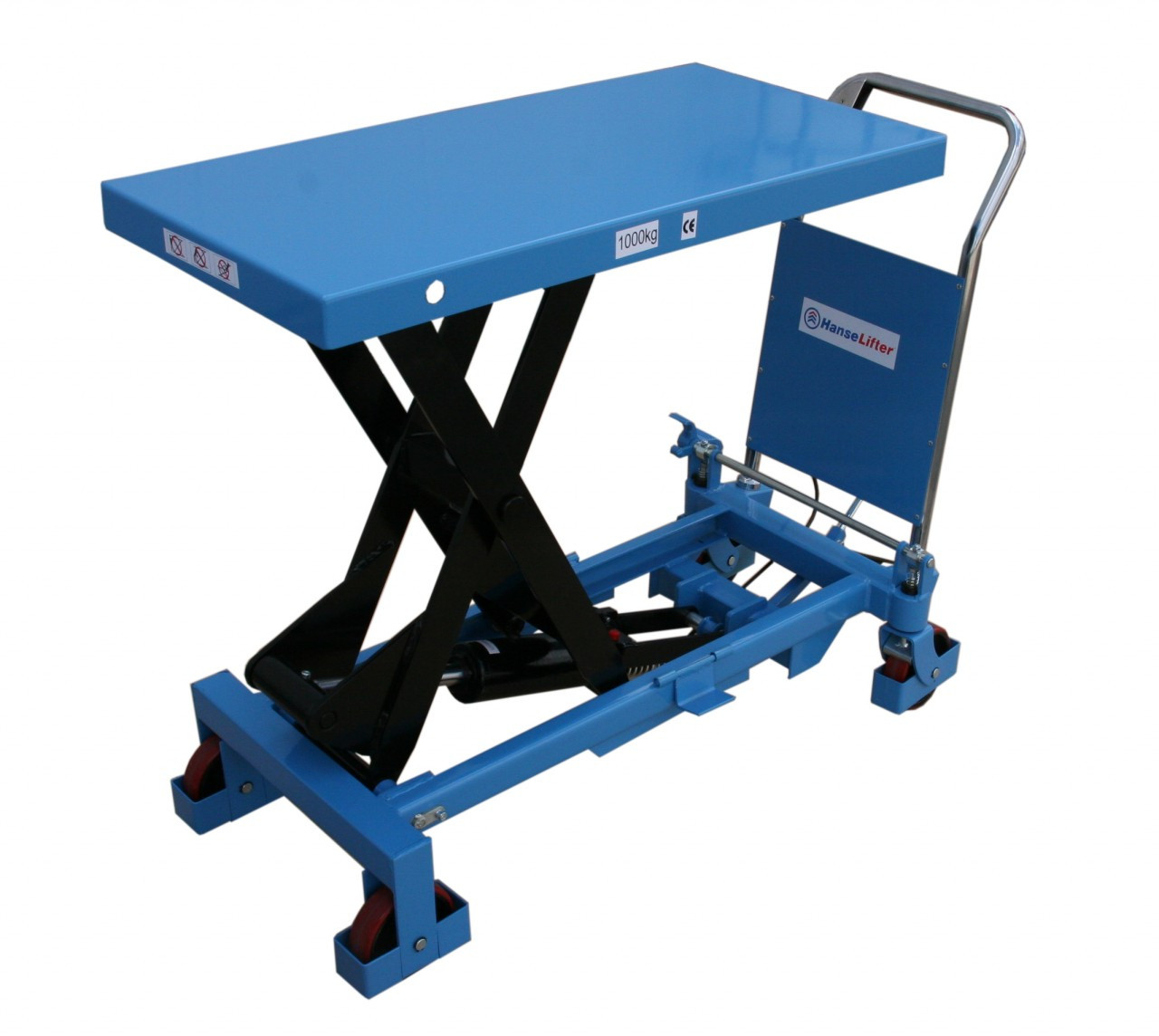 2 Ton Walk Behind Pallet Stacker Electric Forklift Price 1: Scissor Lift Table Lifting Up To 1000kg