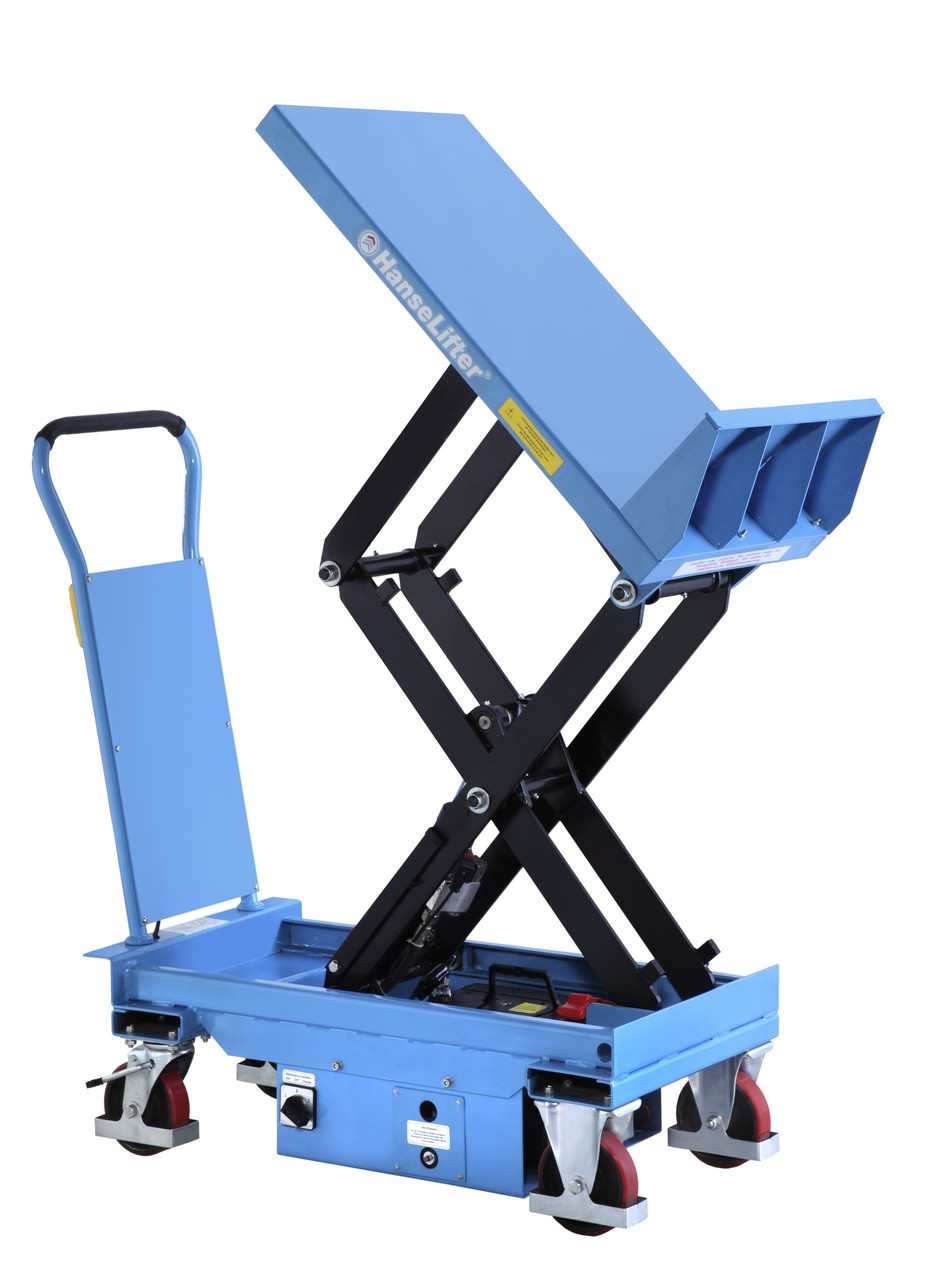 2 Ton Walk Behind Pallet Stacker Electric Forklift Price 1: Semi-Electric Tilting Lift Table Lifting Up To 3000kg