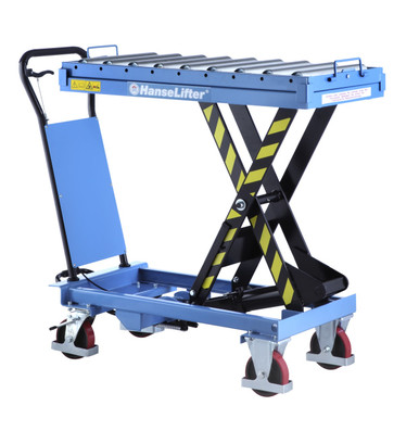 Scissor Lift Table with Roller Top