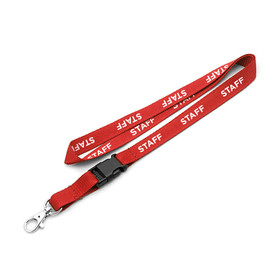"""Staff"" Pre-Printed 10mm Polyester Lanyard"