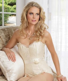 Satin & Lace Ivory Corset | Bridal Lingerie