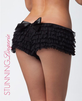 Bombshell Ruffle Shorts in Black