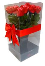 dozen red choc roses