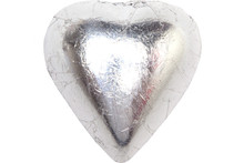chocolate heart silver