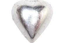 chocolate heart silver