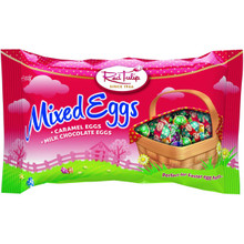 red tulip Easter mixed eggs