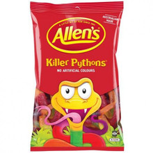 Allens killer pythons 1kg bulk bag of lollies