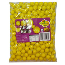 choc balls yellow lolliland chocolate