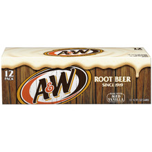 A & W root beer 12 cans pack