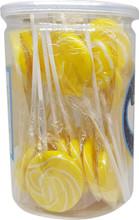 swirl lollipop yellow