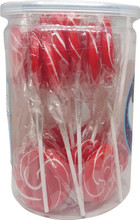 swirl lollipop red