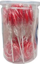 swirl lollipop red