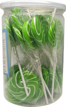 swirl lollipop green