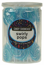 swirly pops blue 24 candy showcase