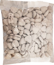 chocolate hearts white 1kg