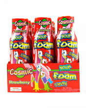Cosmic sour foam candy strawberry 12 pack