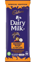 cadbury coconut rough fruit and nut