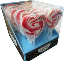 mega swirly heart pop 85g pink