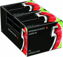 5 Gum Watermelon Burst Wrigleys 10 x 32g