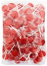 1kg small flat red lollipops