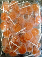 flat orange lollipop