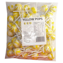 yellow pops lollipop