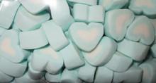 blue heart shaped marshmallow