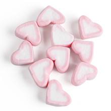 p[nk heart shaped marshmallow