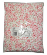 Hearts pink white compressed candy