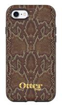 OtterBox Symmetry Leather Case iPhone 7 - Dark Brown/Dark Snake Skin