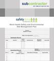 WHSE Site Management Plan - Subcontractor 20008-3