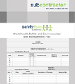 WHSE Site Management Plan - Subcontractor 20008-3