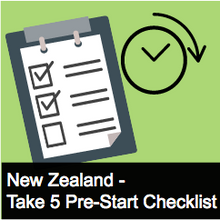 Take 5 Pre-start Checklist NZ