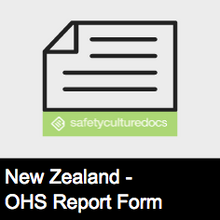 Event Near Miss Hazard Report Form - NZ