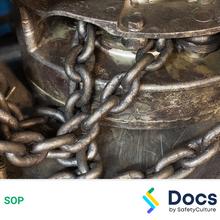 Chain Block & Tackle SOP 60050-2