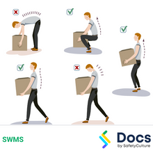 Manual Handling (General Workplace) SWMS 10521-2