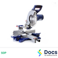 V Cut Mitre Saw SOP | Safe Operating Procedure