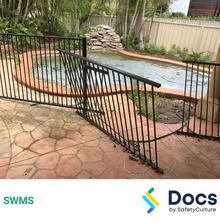 Make Safe (Pool/Perimeter Fencing) SWMS 10578-2
