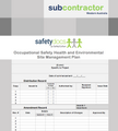 OSHE Site Management Plan - Subcontractor 20201-1