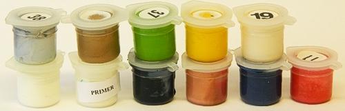 11 paint pots