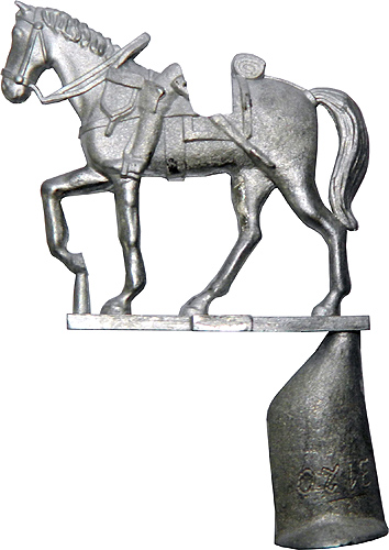 Austrian Cuirassier Horse casting with ingate.