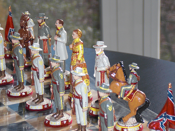 John Lubinski American Civil War chess set