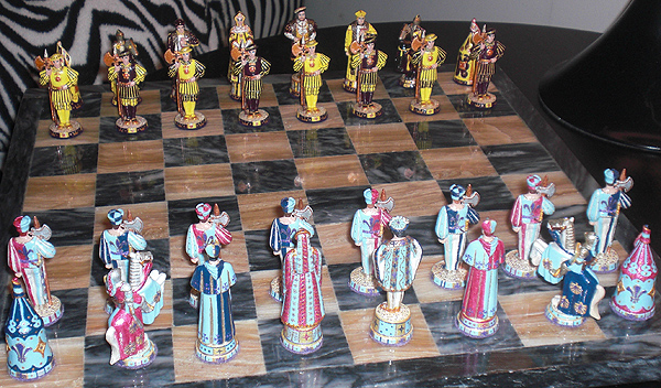 Cloth of Gold Chess Set with Henry VIII and Francis I sides.