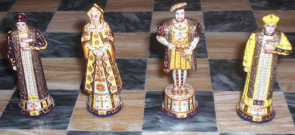 Cloth of Gold Chess Set with Henry VIII pieces.