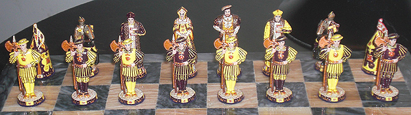 Cloth of Gold Chess Set with Henry VIII sides.
